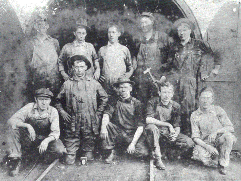 Bell Tower Workmen in 1891 at Christ Church Washington Parish