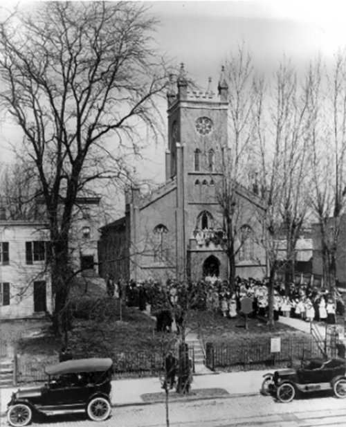 Christ Church and Congregation Circa 1918