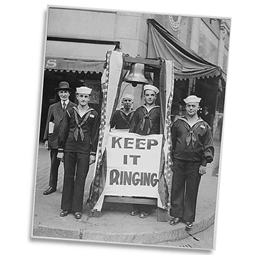 Bell Ringers in Seattle during the 4th Liberty Loan drive to support the Allied cause in World War I.