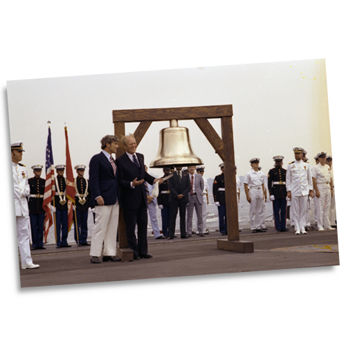 President Gerald R. Ford initiates the ringing of Bicentennial bells across the nation